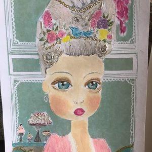 Marie Antoinette, Art Print retouched Shabby chic
